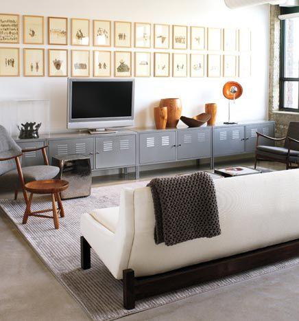 idee voor tv -en boekenkast, maar dan in wit