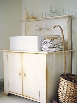 Cool approach to a farmhouse-style sink  Rustic & Eco-Style Kitchen | Kitchen Building