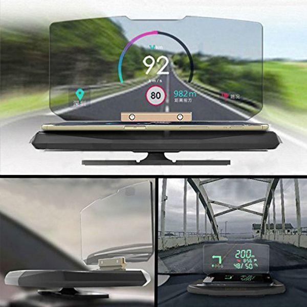 HUD Head Up Display Auto Handy GPS Navigation Bild Reflektor Halter Mount