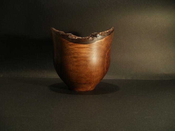 Black walnut nature edge bowl by Ervin Horn
