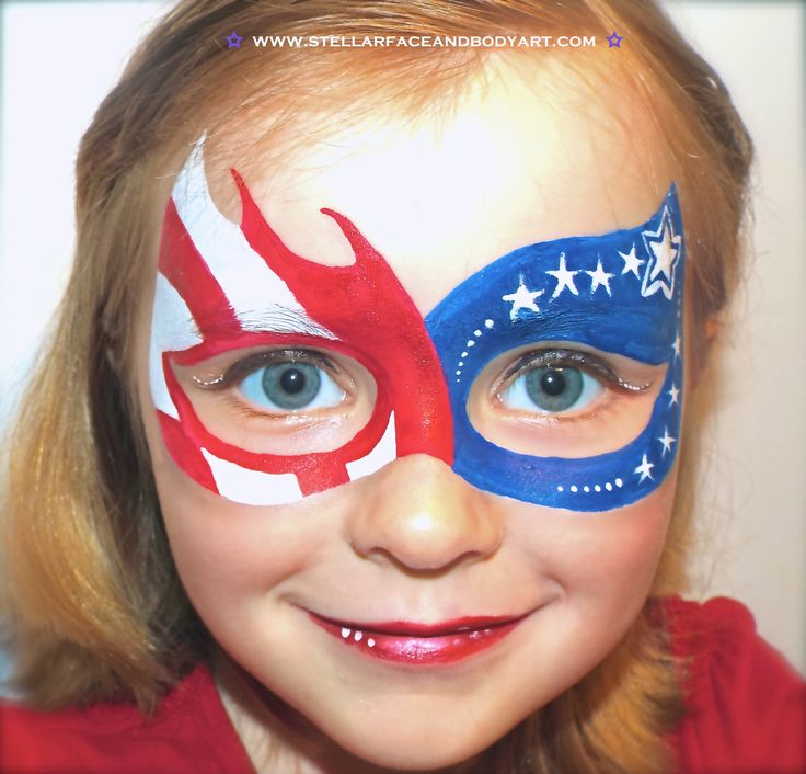 Fourth of July Face Painting