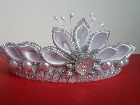 Новогодняя Корона Канзаши ! Для начинающих / New Crown Kanzashi! for beginners - YouTube