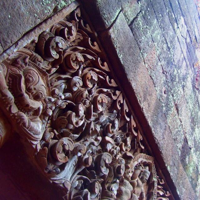 Architecture in a temple, Laos