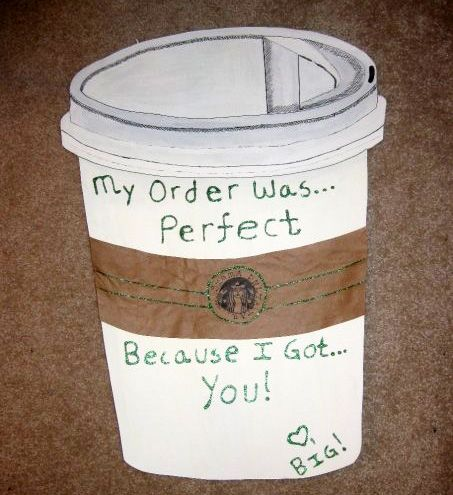 Made this for my #Starbucks loving little during Big/Little Week! THIS IS SO CUTE