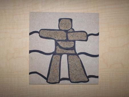 Inukshuk sand art