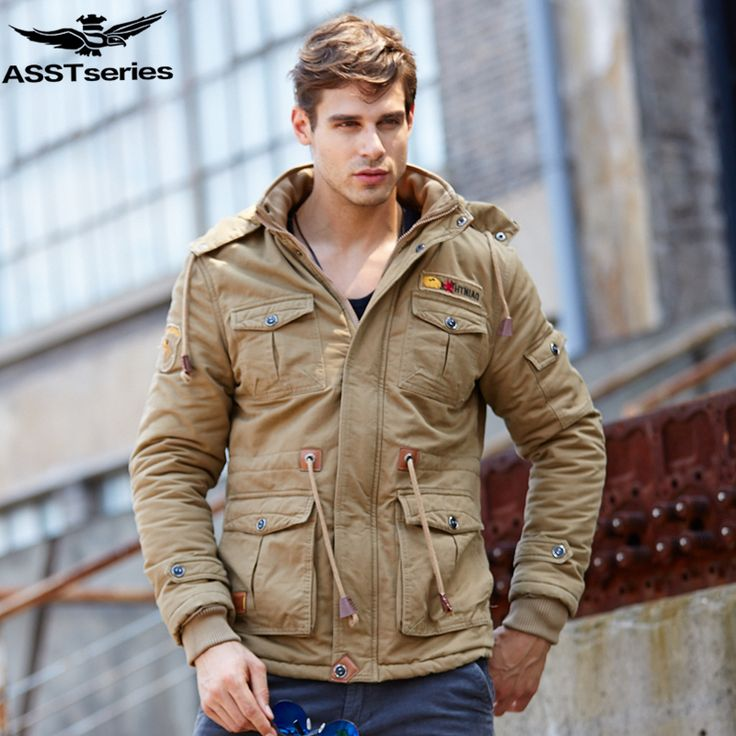 2016 Winter Parka Jacket Men Men's Military Tactical Army Jackets And Coats Thick Warm Down-cotton Parka Outwear Overcoat.DB12 #Affiliate