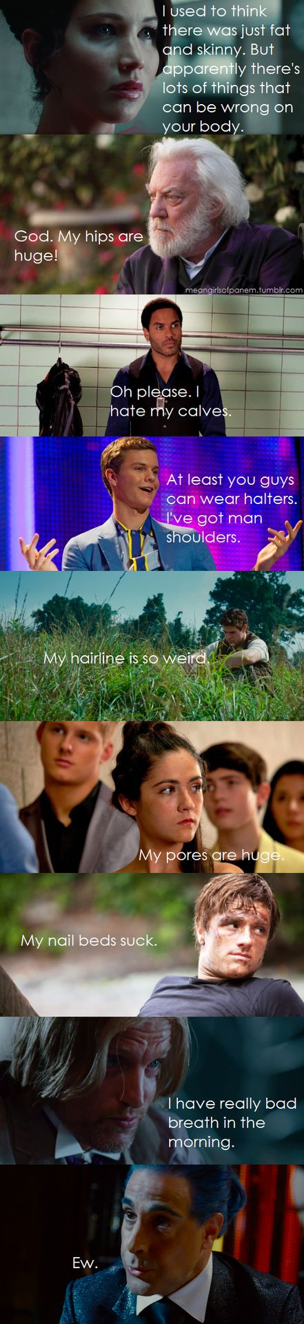 Apparently there's lots of things that can be wrong with your body! So funny. Love Mean Girls and The Hunger Games