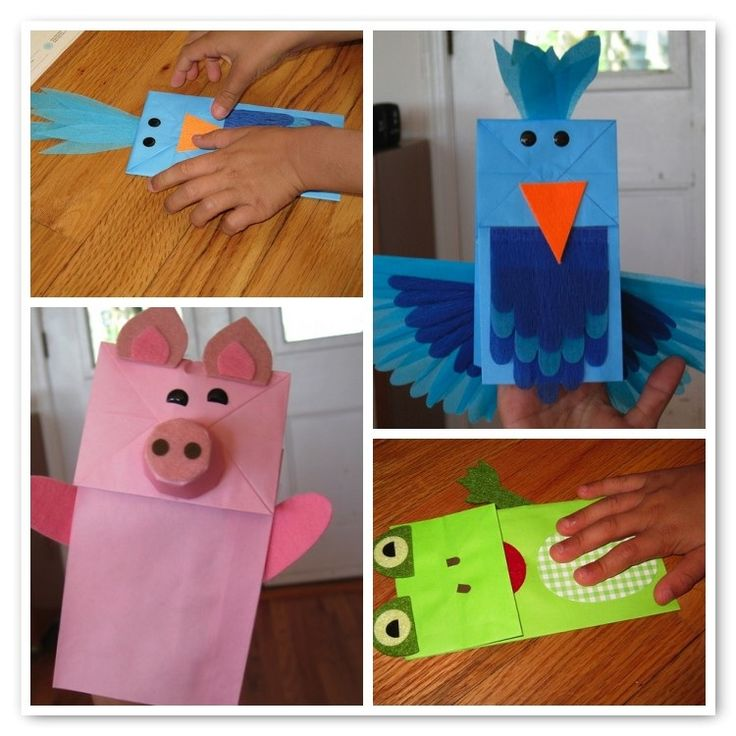 354 best images about paper bag puppets on pinterest for Cute paper crafts