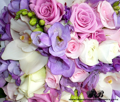 Pink Purple And White By Blossom Wedding Flowers Via