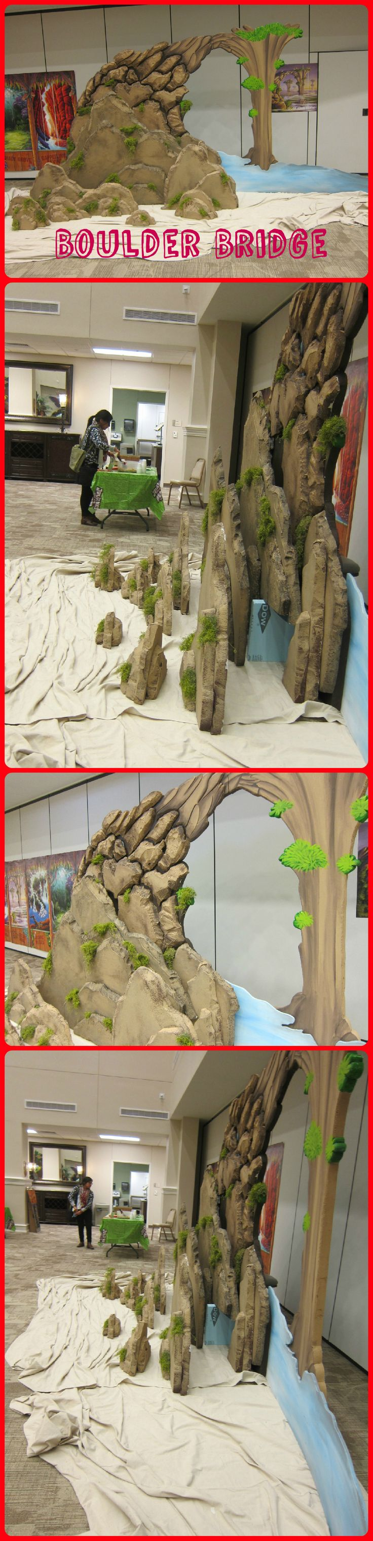 Boulder Bridge backdrop from several angles.  On display at Lifeway's Preview Event in Fort Worth, TX. Image Only Journey off the Map VBS 2015.
