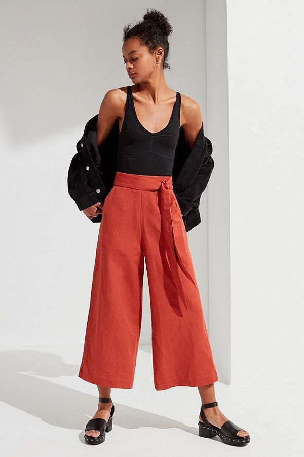 0381d3a8808b5b UO Madison Tie-Belt Culotte Pant | New Arrivals | Culotte pants ...