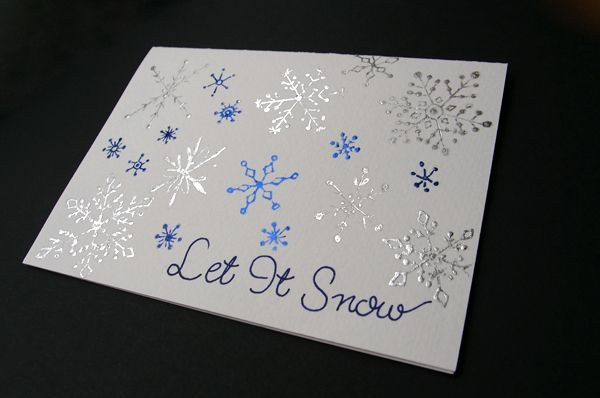 Christmas 2016! Each year I make a handmade gift and card for my hubby. This year I thought I would share the Christmas greeting card I made for him using foiling.