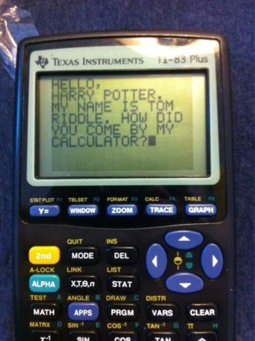 Win.Chamber Of Secret, Harrypotter, Tom Riddle, Diaries, Math Class, So Funny, Harry Potter Humor, Algebra, High Schools