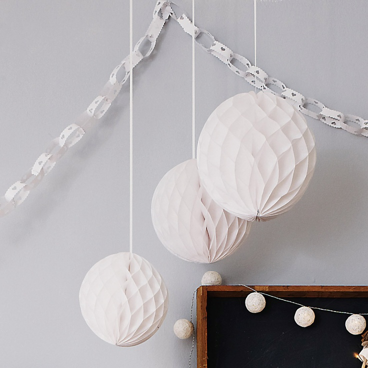Buy Childrens Bedroom > Childrens Bedroom Accessories > Honeycomb Paper Decorations from The White Company