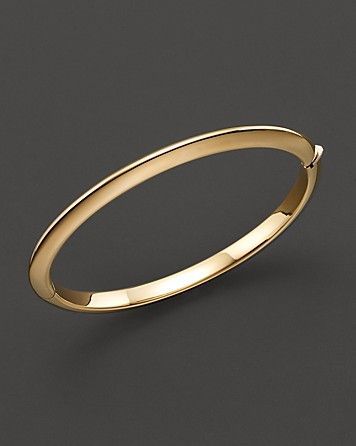 Roberto Coin 18 Kt. Yellow Gold Bangle Bracelet - Bracelets - Shop by Style - Fine Jewelry - Bloomingdale's