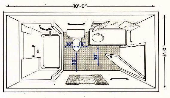 Bathroom Floor Plans With Dimensions Full Bathroom Plan Salle