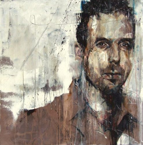 Portrait of the painter Antony Micallef, Guy Denning 2011