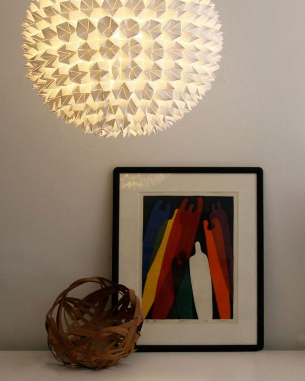 Abstracte papieren lamp origami