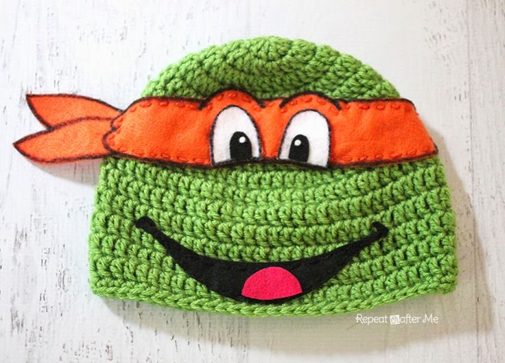 Ninja Turtle Crochet Hat FREE Pattern