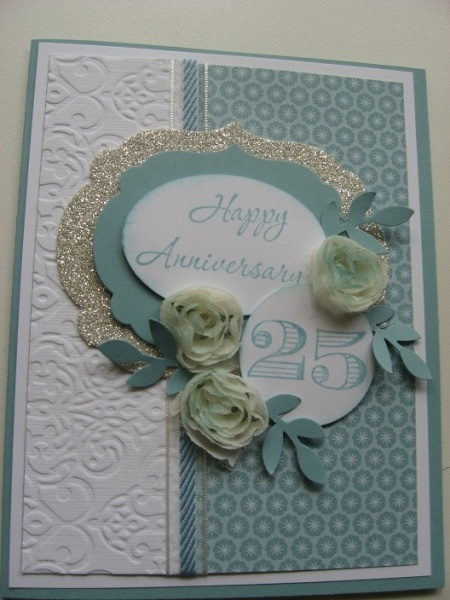 Anniversary Card but great layout for Christmas this year!