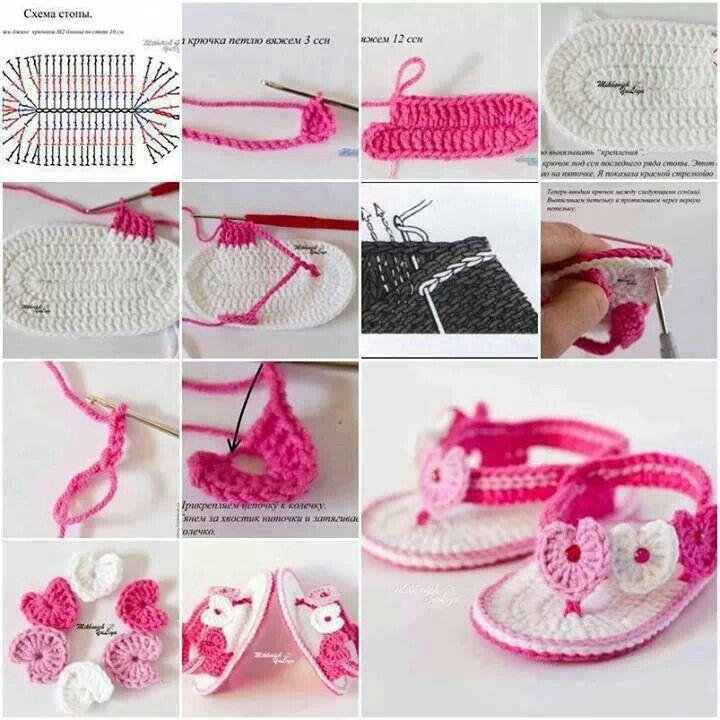Sandale crochet
