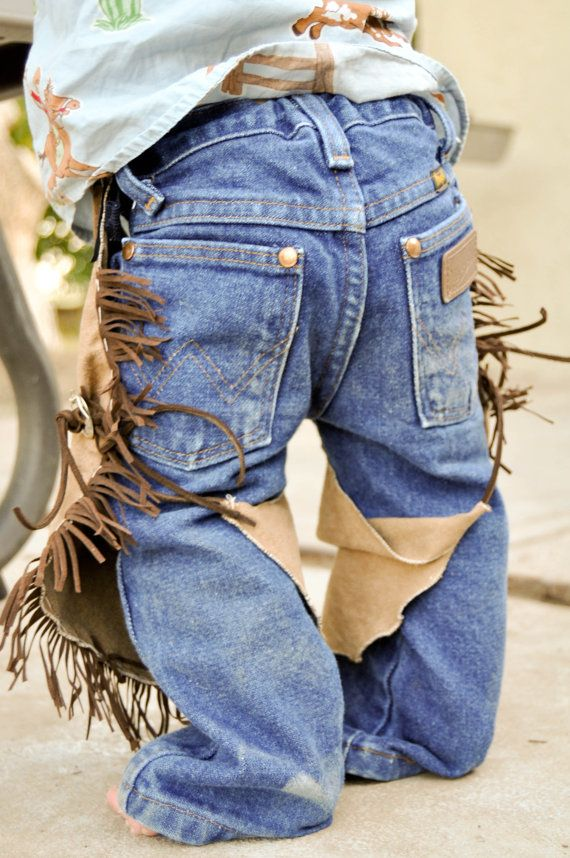 infant baby cowboy cowgirl chaps/ cowboy by lilwesternworks