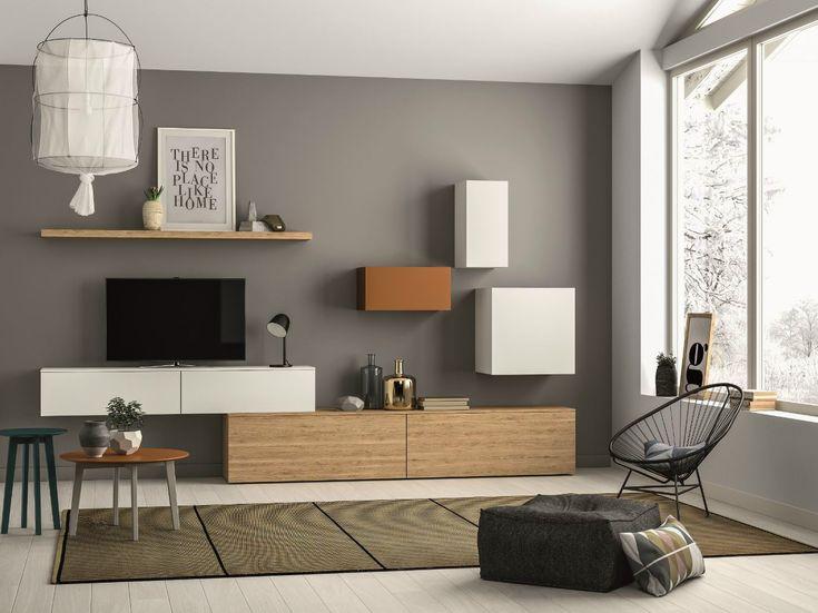Mueble modular de pared composable SLIM 102 Colección Slim by Dall'Agnese
