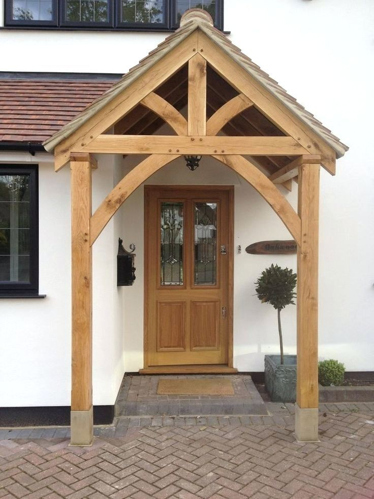 Wood Door Awning Kit Wooden Door Awning Kits Bespoke Green Oak Porch Front Door Canopy Handmade In Shropshire Gros Front Door Canopy Cottage Porch Porch Design