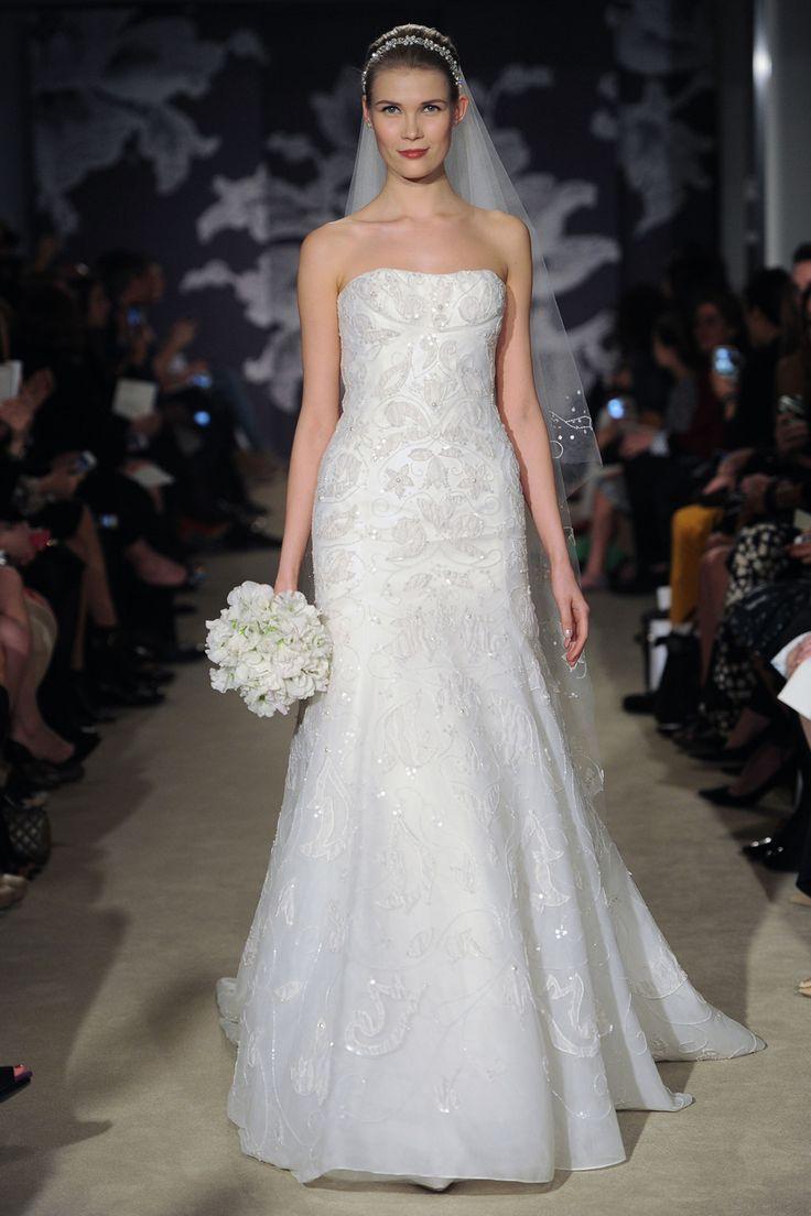 Carolina Herrera Wedding Dresses 2015 Spring. To see more: http://www.modwedding.com/2014/08/04/carolina-herrera-wedding-dresses-2015-spring/ #wedding #weddings #wedding_cake