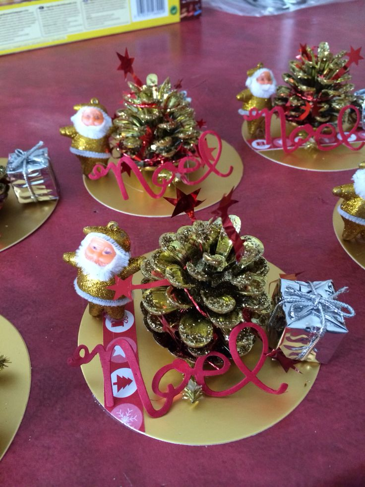 Plus de 1000 id es propos de deco table de noel sur for Table fait maison