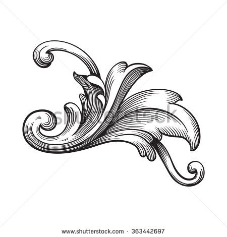 43 best Baroque Scroll(max) images on Pinterest Baroque, 18th - baroque scroll designs