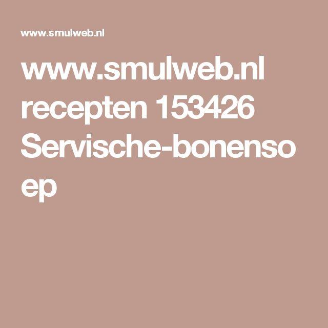 www.smulweb.nl recepten 153426 Servische-bonensoep
