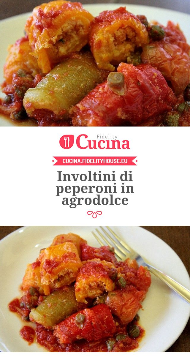 Involtini di #peperoni in agrodolce della nostra utente Sanny. Unisciti alla nostra Community ed invia le tue ricette!