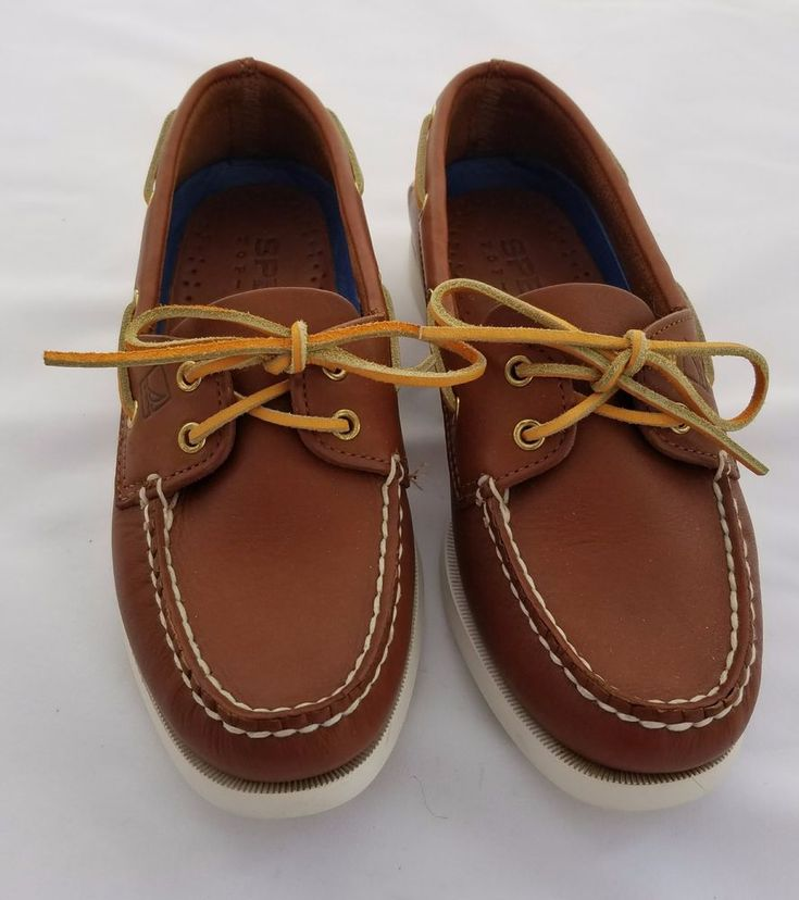 Sperry Womans Boat Shoe Brown Leather 7 M #Sperry #Slipon #Casual