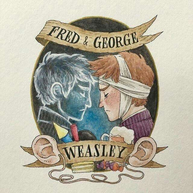 Fred and George (my favorite characters)... I'm crying...