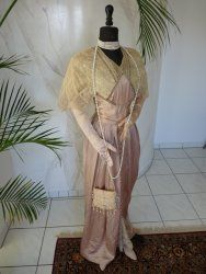 antique dress, antique gown, gown 1912, gown 1910, antique evening dress. robe ancien, Titanic era Dress, antieke jurk