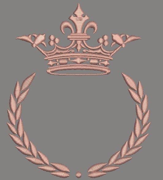 Crown and laurel wreath 170*130 mm / 6.8*5.2 inc / 8000 stc and 260*200mm / 10.4 * 8 inc / 12300 stc. 57 mm x 45 mm / 2.31 inc x 1.8 inc / 2900 stc. available formats: DST, EXP, JEF, PES, ART, HUS, SEW, XXX, VIP, VP3 for any questions please contact me