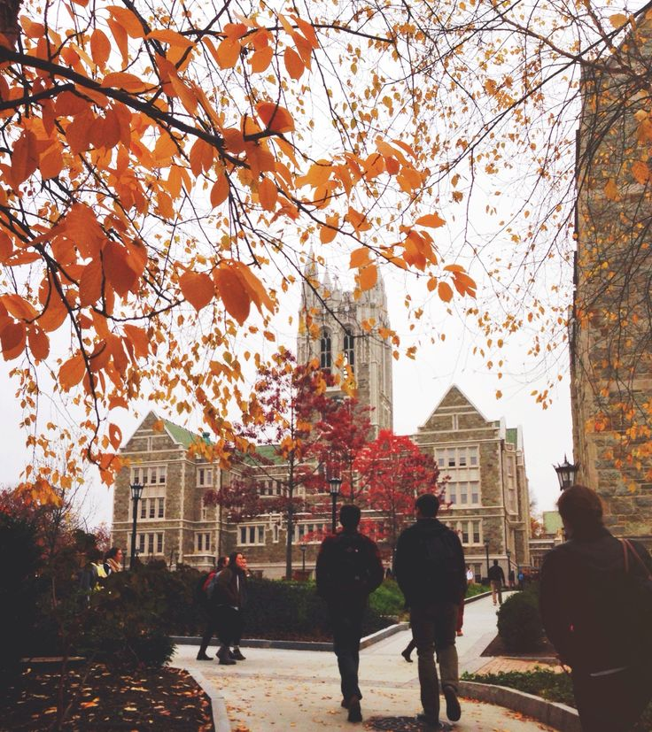 ivyleague-d:  midwesternhoney:  There's some color in even the gloomiest of days  Boston college is perfect all year round. In love