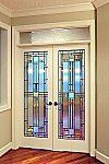Stained Glass Interior French Doors | Houston Stained Glass Windows In  Houston,leaded Glass Doors