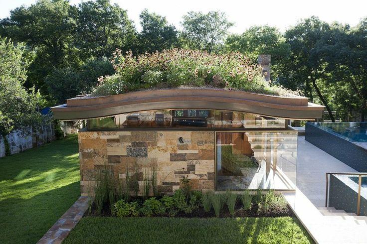 Diseño ecologico de un llamativo techo verde por Murray Legge Architecture. Galeria con imágenes y detalles de una asombrosa casa moderna