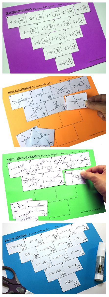 Pyramid Sum Puzzles for Secondary Math