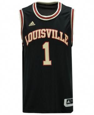 b74638db1 adidas Men s Louisville Cardinals Hardwood Replica Basketball Jersey - Black  XXL  louisvillebasketball