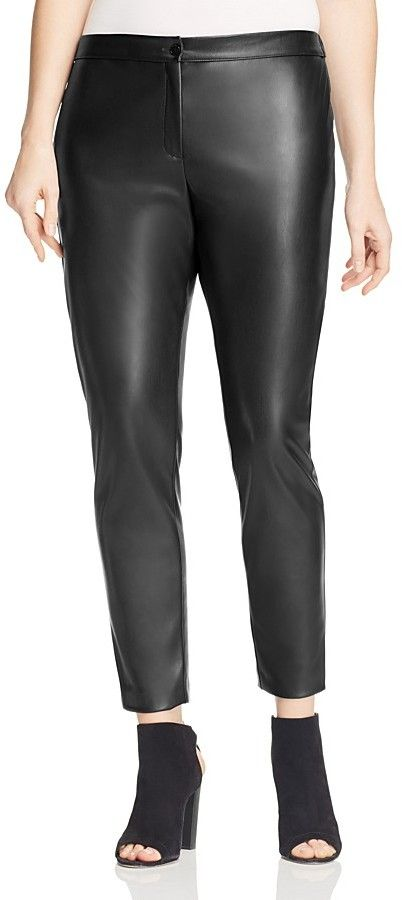 Marina Rinaldi Reale Faux Leather Leggings ** You can find out more details at the link of the image.