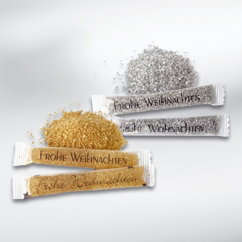 Frohe Weihnachten - Merry Christmas: You can buy Zuckersticks also with golden or silver colored sugar, nice, aren't they?