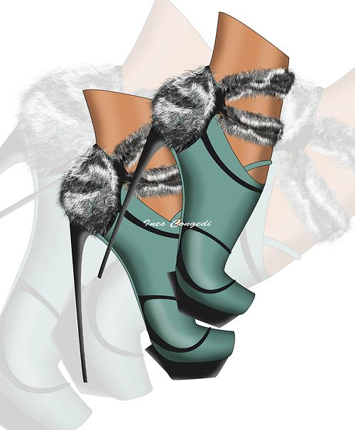 """Love for (faux) fur!"" by Ines Congedi http://inescongedi.tumblr.com"
