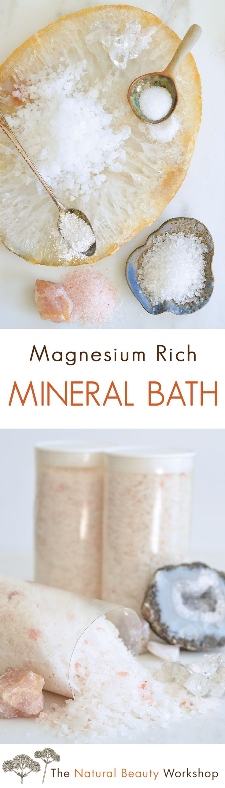 Make Your Own All-Natural Magnesium Rich Mineral Bath