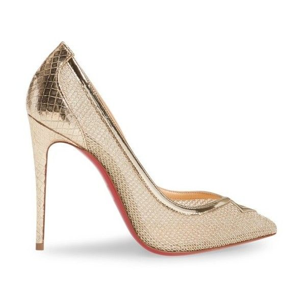df115454099 Women s Christian Louboutin Neoalto Mesh Pump (18.135.530 VND) ❤ liked on  Polyvore
