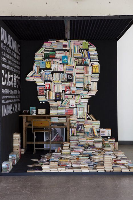 mobile pop-up bookstore installation by NAM