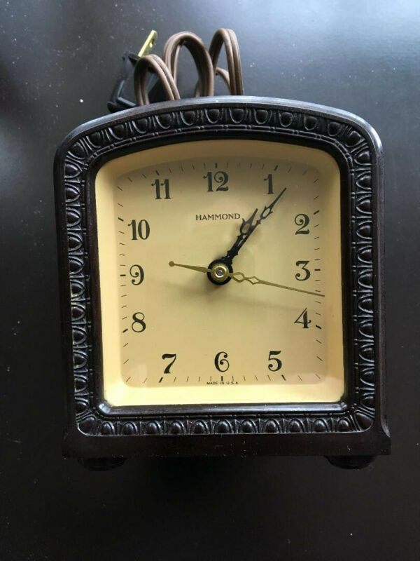 Vintage Hammond Electric Alarm Clock Bakelite | Clocks for