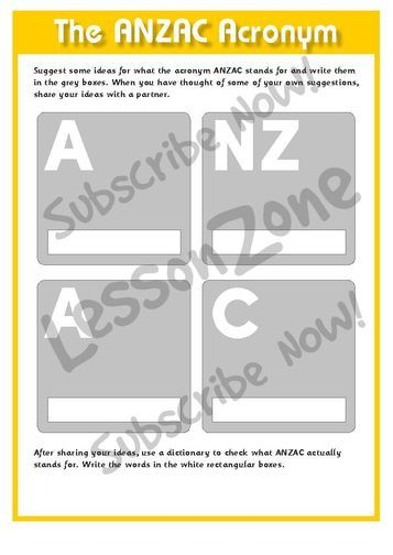 cdn1.lessonzone.com.au Resources 115495 115495E02_CelebratingNationalDaysTheANZACAcronym01.jpg
